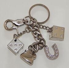 Kathy Van Zeeland KVZ Dice Rhinestone Horseshoe Purse Charm Keychain R8647