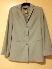 Rockmans New Pale Blue/Grey Long Sleeve Suit Jacket . Size 8