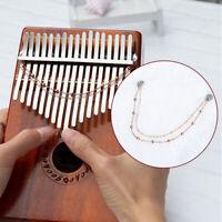 Kalimba 17 Keys Mahogany Thumb Piano With Vibration Tremolo Chain Tassel D NHDFJ