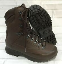 KARRIMOR SF MENS BROWN LEATHER COLD WET WEATHER BOOTS - 5 Wide ,  British Army