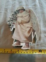 ☆1986 Merrimack Publishing Angel Gift Box Ornament Container Gilt Foil Candy