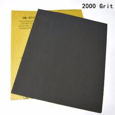 2pcs Wet and Dry Sandpaper 2000 Grit High Precision for Polishing Sanding Black
