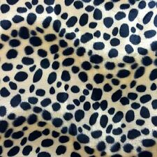 "Taupe Dalmatian Dog Velboa Faux Fur Fabric - Sold By The Yard - 58""/ 60"""