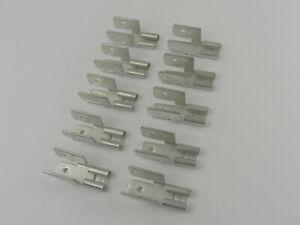 10 Stück, Flachsteckhülse mit Abzweig, Steckverteiler, 3-fach