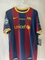 2010 2011 Nike FC Barcelona Lionel Messi Jersey L UEFA Champions League Final