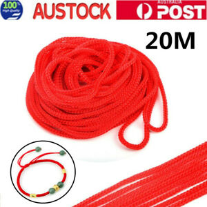 20m Nylon String Rope Cord for DIY Necklace Bracelet Craft Red 2mm AU Stock