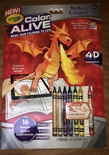 Mythical Creatures Crayola Color Alive 4D Action Coloring Book With App