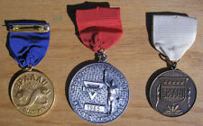 Vintage 1965-66 Junior AAU & YMCA Swimming Medals, Gold, Silver, Bronze Swim Lot