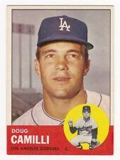 DOUG CAMILLI 1963 Topps Baseball  # 196 Los Angeles Dodgers Ex Plus