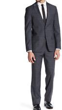 NWT Ben Sherman Ruxley Grey Plaid Two Button Notch Lapel Suit GREY PLAID 38R W32