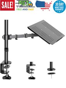 Laptop/Notebook Desk Mount Stand - Height Adjustable Single Arm Mount