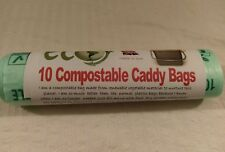7 Litre Compostable Food Waste Caddy Liner Bags Biodegradeable- EN13462.X10 Bags