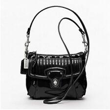 COACH POPPY Black Liquid Gloss Patent Mini Crossbody Bag / Purse 46585 BNWT