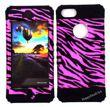 KoolKase Hybrid Silicone Cover Case for Apple iPhone 5 - Zebra Pink