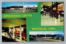 Waterloo Iowa IA Crossroads Center Mall Stores Osco Sears Zales Postcard 1970s