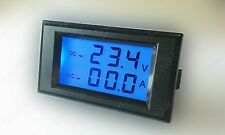 DC 200V10A Dual Voltmeter Ammeter Charge Discharge Status Detector Battery Test