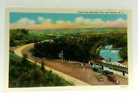 Elmira New York View From Mountain Top Vintage Postcard