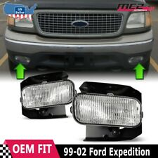 For Ford F-150 99-03 Factory Bumper Replacement Fit Fog Lights DOT Clear Lens