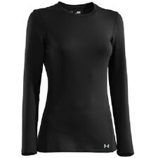 NWT - UNDER ARMOUR Women's EVO ColdGear Infrared Crew Base Layer - Black - Small