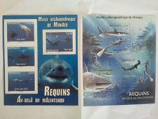 2 blocs de timbres monégasque sur les requins