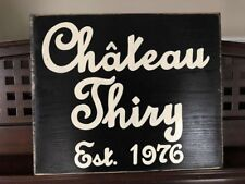 Personalized CHATEAU Sign French Chic ShaBBy Paris Family Custom U-Pick Color