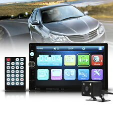 """Rear Camera 7"""" HD Double 2 DIN Stereo Car MP5 Player GPS Bluetooth Touch Radio"""