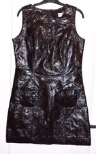 Jolie robe vinyl froissé marron JUS D'ORANGE T 2 TBE
