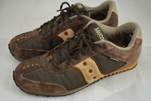 Mens SAUCONY Cambridge Brown Orange Sneakers Shoes Limited Edition Size 10.5 US