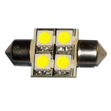 HQRP bombilla festoon 31mm led SMD de 4 LED 5050 0.9W luz blanca fría, 72 Lumen