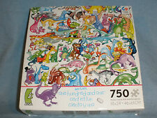 Ceaco One Hundred Funny Dinosaurs 750 piece Puzzle Kevin Whitlark 2012 COMPLETE