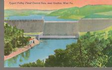 Tygart Valley Flood Control Dam. near Grafton, West Va. Postcard #SK7734