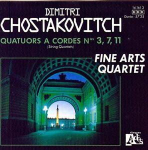 CHOSTAKOVITCH - Quatuors à cordes Nos 3, 7 & 11 - Ades 141612 (France) PROMO CD