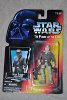 STAR WARS POWER OF THE FORCE HAN SOLO IN HOTH GEAR W/ PISTOL & RIFLE MOSC