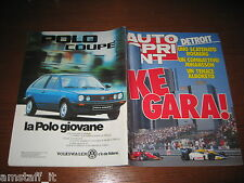 AUTOSPRINT 1985/26=GP DETROIT KEKE ROSBERG=PIERO MANCINI=PROVA GOLF GTI 16 V.=