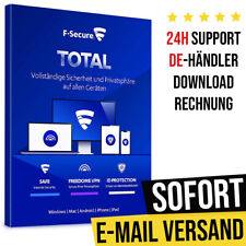 F-Secure Total Security & VPN 2021 - 1PC, 3PC, 5PC, 10PC   1 Jahr, 2 Jahre  