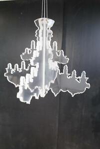 Melbourne Artist RYAN FOOTE Modernist Perspex Chandelier - Art Design Sculpture