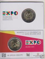 Italia Italy Italien 2 euro € Expo expo in coincard blister bu 2015