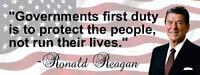 Ronald Reagan 'Government Protect' Quote Conservative Bumper Sticker DC324
