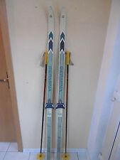 Skier DDR Germina VEB 80iger Jahre Langlauf + Bindung + Skistöcke Länge 175 cm