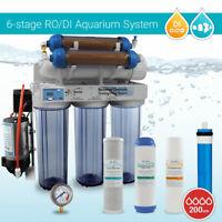 6 Stage 200 GPD Aquarium Reverse Osmosis System RO.DI+ Pump + HM DM-1 TDS Meter