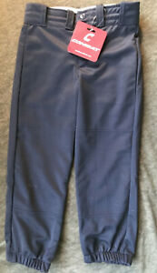 NEW COMBAT FASTPITCH SOFTBALL PANTS 3/4 Length ~ Navy Blue ~ ALL ADULT SIZES NWT
