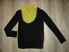 Womens Miss Berge black top with studs and green t-shirt with collar size 8 (S)