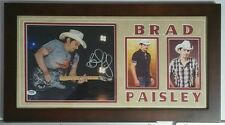 Brad Paisley Autographed Signed 8x10 Framed 10x20 PSA DNA