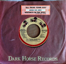 GEORGE HARRISON - ALL THOSE YEARS AGO - DARK HORSE 45 + JUKEBOX STRIP