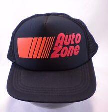 Vintage 1980's AUTO ZONE Parts Store Cap Black Mesh Snapback Trucker Hat