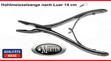 Hohlmeisselzange tras Luer - 14 cm prometida-médica de acero inoxidable