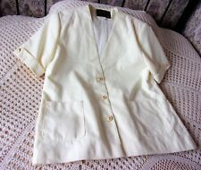 Vintage yellow cream party jacket by DAVID BARRY Size 20 Made in Britain
