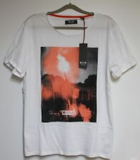 MUSTANG T-Shirt 'Photoprint T-Shirt' White Size: M New with Tag