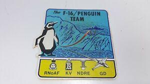 "The F-16 Penguin Team RNoAF KV NDRE GD 4"" Sticker"