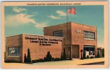 KINGFISHER?, Oklahoma  OK   CIMMARON ELECTRIC COOPERATIVE c1940s Linen  Postcard